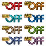 Illustration Vector of 20% off. discount banners design template, app icons, vector illustration. EPS file available. see more images related stock illustration