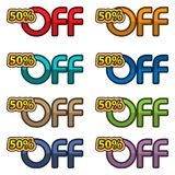 Illustration Vector of 50% off. discount banners design template, app icons, vector illustration. EPS file available. see more images related stock illustration