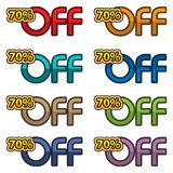 Illustration Vector of 70% off. discount banners design template, app icons, vector illustration. EPS file available. see more images related stock illustration