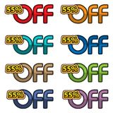 Illustration Vector of 55% off. discount banners design template, app icons, vector illustration. EPS file available. see more images related royalty free illustration