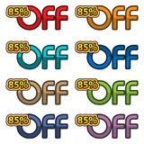 Illustration Vector of 85% off. discount banners design template, app icons, vector illustration. EPS file available. see more images related royalty free illustration
