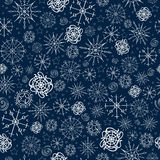 Illustration, vector pattern. image of snowflakes, winter. blue background for the Christmas cards, packaging, greetings royalty free illustration