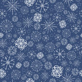 Illustration, vector pattern. image of snowflakes, winter. dark blue background, white outline for the Christmas cards vector illustration