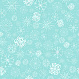 Illustration, vector pattern. image of snowflakes, winter. light blue background for the Christmas cards, packaging. Greetings Stock Photo