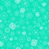 Illustration, vector pattern. image of snowflakes, winter. mint blue background for the Christmas cards, packaging vector illustration