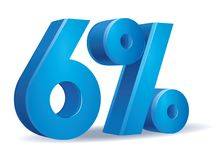 Percentage vector, 6 royalty free illustration