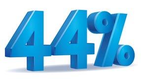 Percentage vector, 44 Stock Image