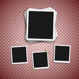 Vector Photo Frame. Realistic Snapshot Modern Photo. Instant Album Photoframe Paper Picture. Polaroid Template Royalty Free Stock Photography