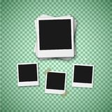 Vector Photo. Realistic Instant Photo Frame Template royalty free illustration