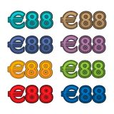 Illustration Vector of price 88 euro, Europe currency. EPS file available. see more images related Stock Image