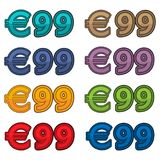 Illustration Vector of price 99 euro, Europe currency. EPS file available. see more images related Stock Images