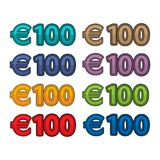 Illustration Vector of price 100 euro, Europe currency. EPS file available. see more images related Royalty Free Stock Photos