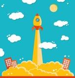 Illustration of vector rocket. Illustration of starting up vector rocket Royalty Free Stock Photo