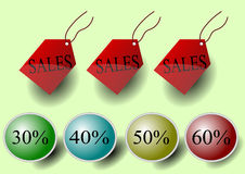 Illustration vector of sales tags and discount Stock Photo