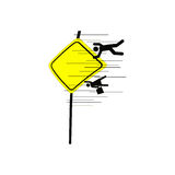 Illustration vector of school area sign with speed lines Stock Images