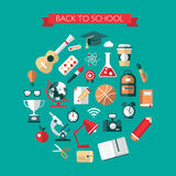 Illustration of vector school flat design Stock Images