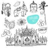 Illustration of vector set of Bangkok Royalty Free Stock Photos