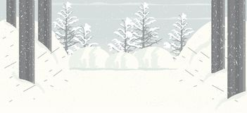 Snow Falling Background royalty free illustration