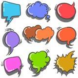 Illustration vector of speech balloon collection Stock Photo
