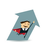 Illustration vector Super Businessman Stock Photos