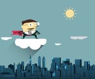 Illustration vector Super Businessman Stock Photo