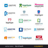 Tooth logo set Royalty Free Stock Photography