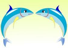 Illustration vector of tuna fish Royalty Free Stock Photo