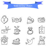 Illustration vector valentine day icons Stock Image