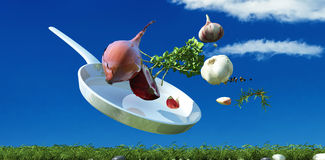 Illustration of vegetables Stock Photos