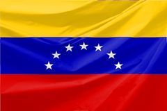 Illustration of Venezuella  Wavy Flag Royalty Free Stock Photography