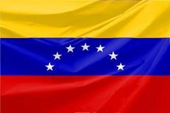 Illustration of Venezuella Wavy Flag royalty free stock photography