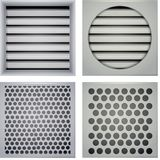 Illustration of ventilation shutters Stock Image