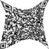 Illustration verformter QR-Code Stockbild