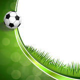 Illustration verte abstraite de boule de sport du football du football de fond Photos stock
