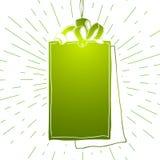 Illustration verte d'icône d'Empty tag illustration libre de droits