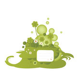 Illustration verte d'oxalide petite oseille Photos stock