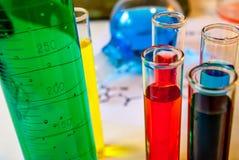 Illustration verte de chimie Photographie stock libre de droits