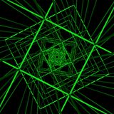 Illustration verte de cyberespace de technologie Image libre de droits