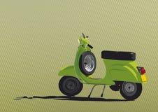 Illustration verte de scooter Photos stock