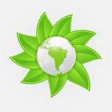 Illustration verte de vecteur de concept de planète d'eco Photos stock