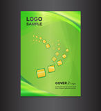 Illustration verte de vecteur de conception de couverture Photo libre de droits