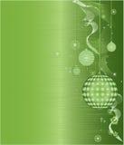 Illustration verte de vecteur de configuration de trame de Noël Photographie stock libre de droits