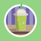 Illustration verte fraîche de mélange de glace Photos stock