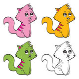 Cute cartoon cats Royalty Free Stock Photo