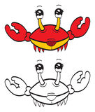 Cute crab Stock Image