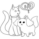 Illustration of a very cute pets Royalty Free Stock Photo
