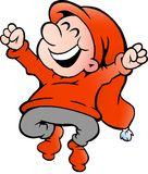 Illustration of an very happy elf. Hand-drawn Vector illustration of an very happy elf Royalty Free Stock Photography