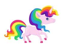 Illustration of a very nice rainbow unicorn. Royalty Free Stock Photo