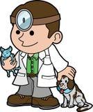 Illustration vet and animals Stock Photos