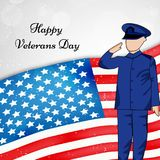 Illustration of Veterans Day Background Stock Photography